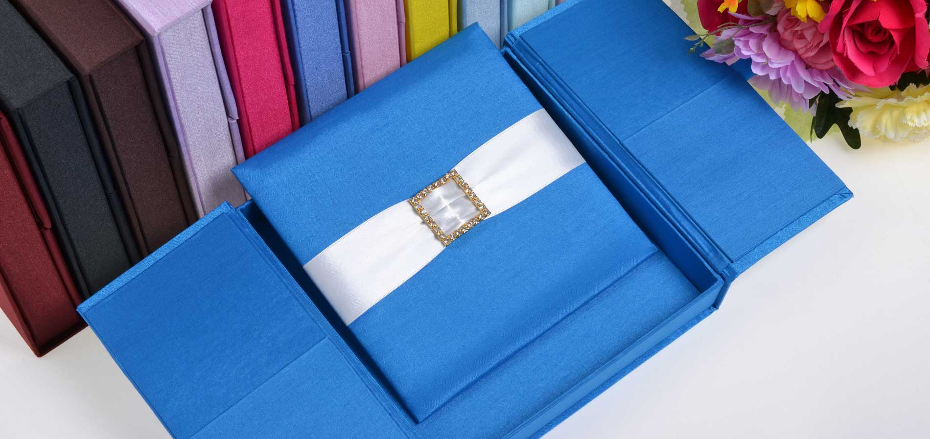 Silk Invitation Box Embellishments