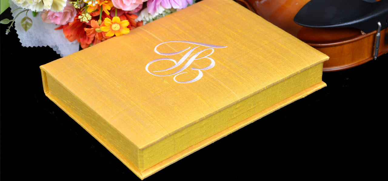 Dupioni Silk Invitation Box