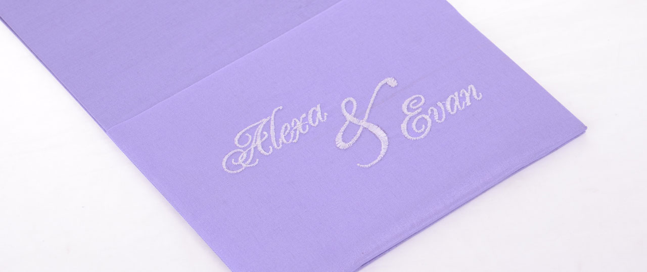 Personalized Wedding Invitations Silk POcketfold