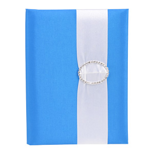Embellished Silk Book Folios 6.5x9 inch in Blue