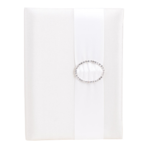 Embellished Silk Book Folios 6.5x9 inch in Ivory