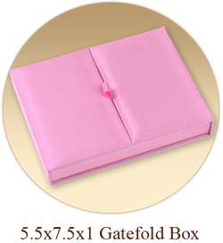 5.5x7.5x1 Gatefold Invitation Box