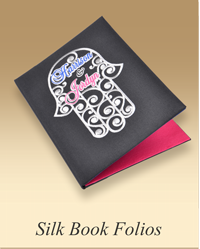 Personalized Silk Book Folios
