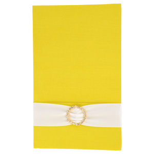Pocket Folios with Embellishments in Yellow
