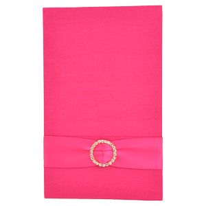 Pocket Folios with Embellishments in Hot Pink