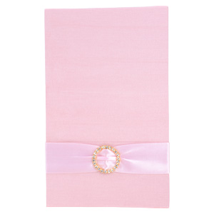 Pocket Folios with Embellishments in Dusty Pink