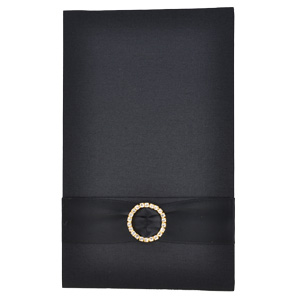 Pocket Folios with Embellishments in Black