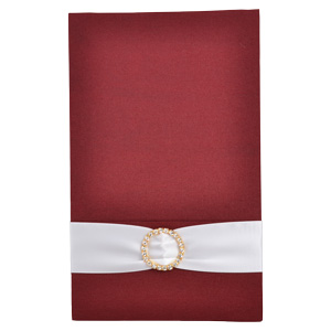 Pocket Folios with Embellishments in Burgundy