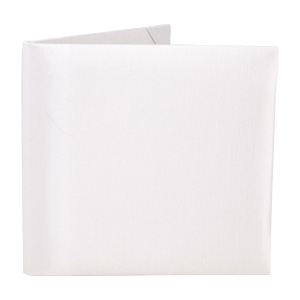 Silk Book Folios 6x6 inch in Ivory