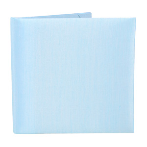 Silk Book Folios 6x6 inch in Icy Blue