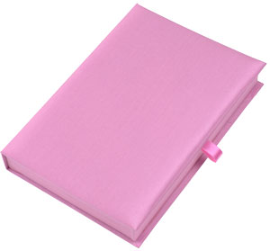 Silk Invitation Box 6x9x1 in Pink