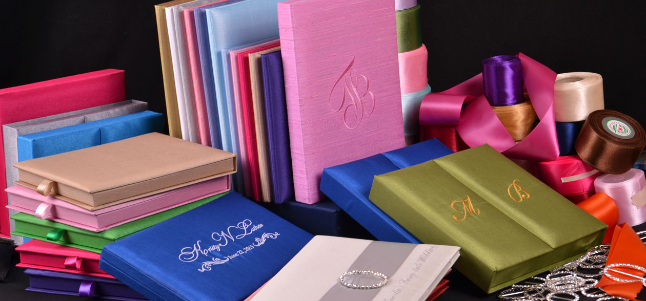 Thai Silk Invitation Box Wholesale Manufacturing Customized Silk Box