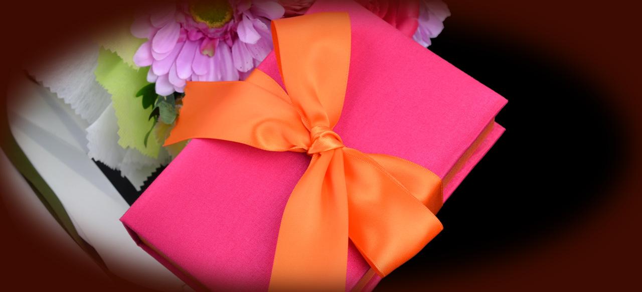 Invitation Box handmde Silk Invitation Box