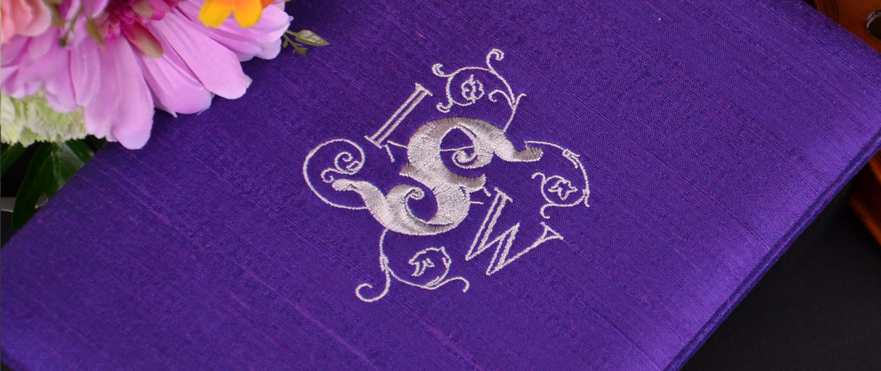 Personalized Wedding Invitations 6.5x9 Silk Dupioni Folios