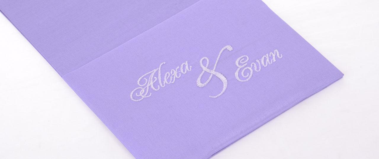 Personalized Wedding Invitations Silk POcketfold