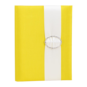 Embellished Silk Book Folios 6.5x9 inch in Yellow