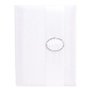 Embellished Silk Book Folios 6.5x9 inch in Off White