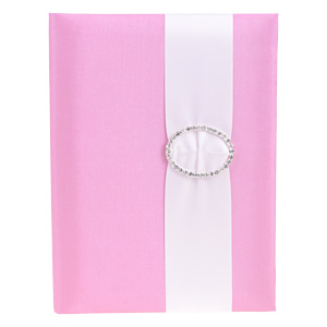 Embellished Silk Book Folios 6.5x9 inch in Pink